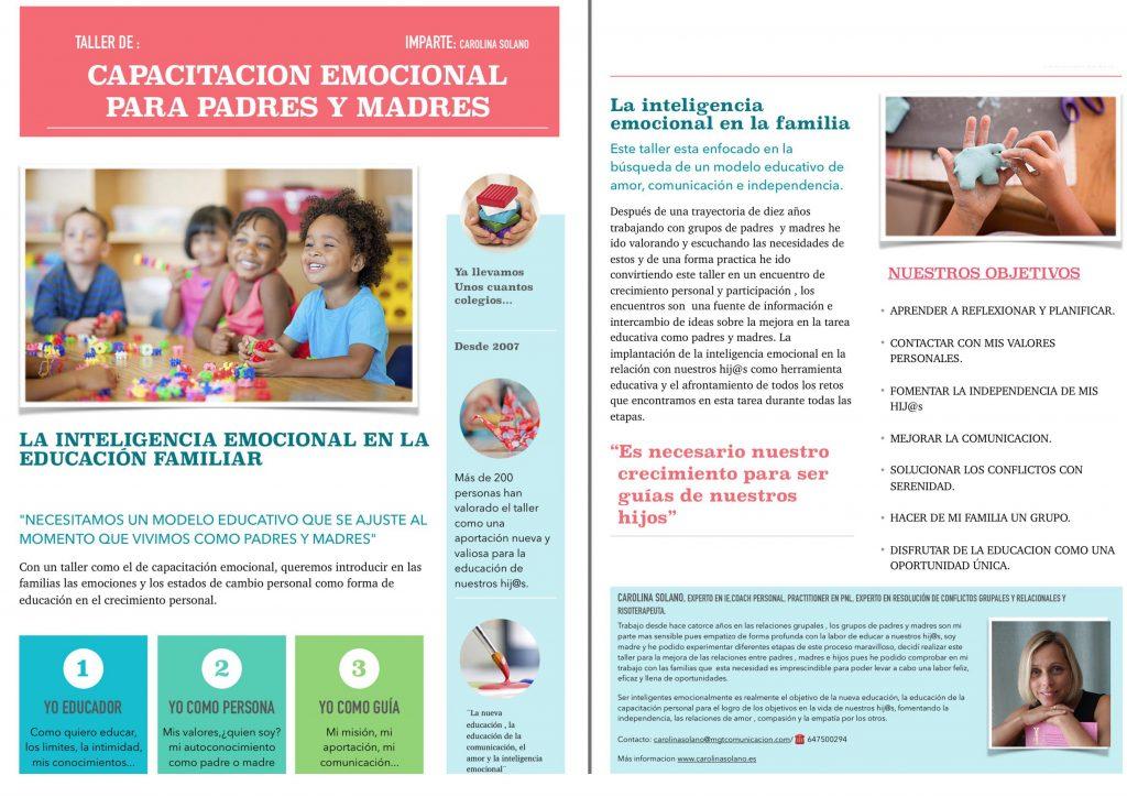 Proyecto Crece. Taller de capacitación para padres y madres.